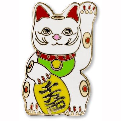 Lucky Cat enamel pin 1