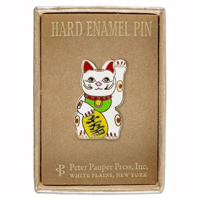 Lucky Cat enamel pin 2