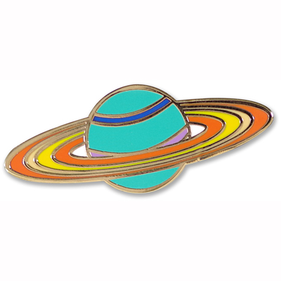 Saturn enamel pin 1