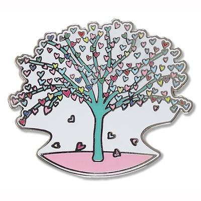 Tree of Hearts enamel pin 1