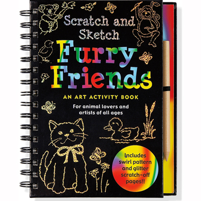 Scratch and sketch furry friends 1