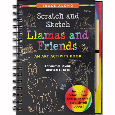 Scratch and sketch Llamas and friends 1