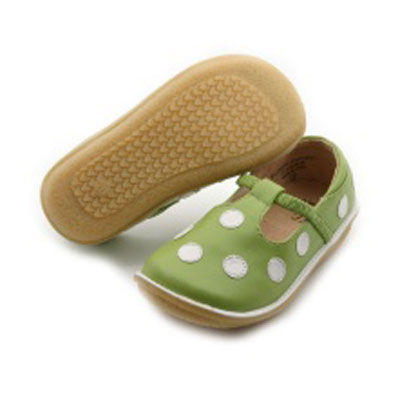 Avocado Green and white Puddle Jumpers 1