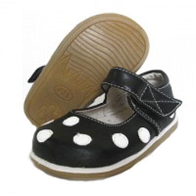 Black & white polka dot shoes (Toddler) 1