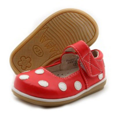 Cherry & white polka dot shoes (Toddler) 1