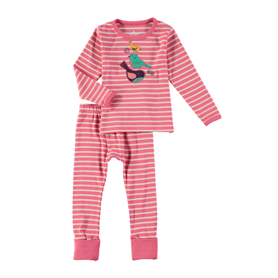 Bird applique pajama set 1