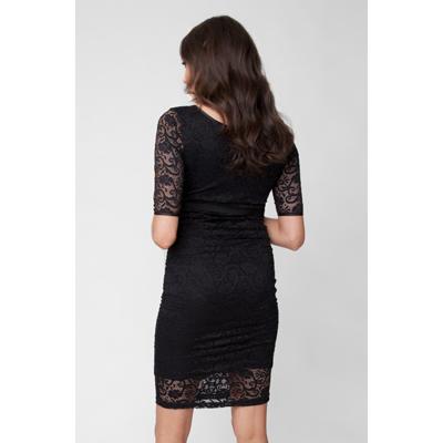 Black Paisley Lace maternity dress 1