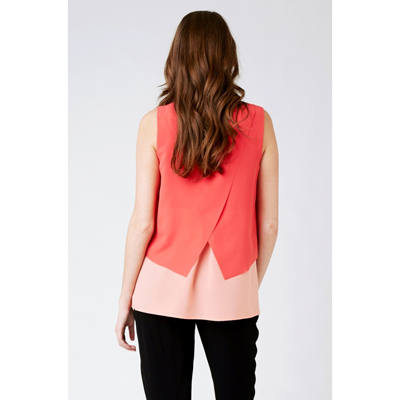 Crossover Nursing Blouse in peach/coral 3