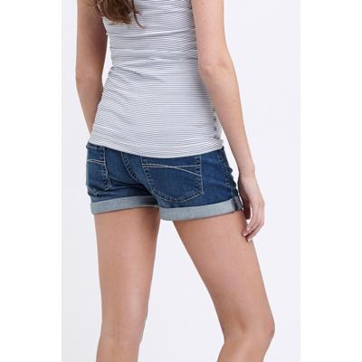 Denim maternity shorts 1