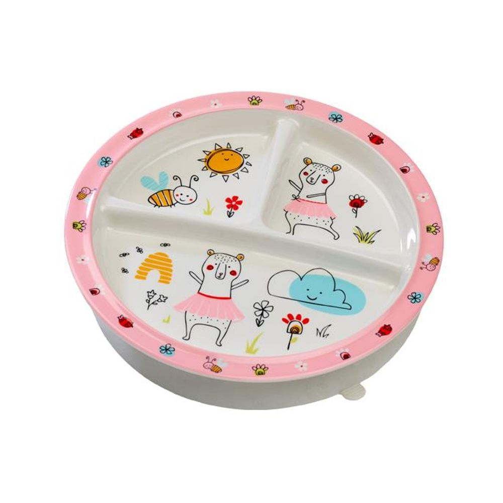 Clementine the Bear suction cup plate 1