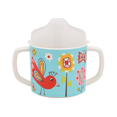 Birds & Butterflies sippy cup 1