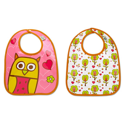 Hoot owl bib set by Sugar Booger 1