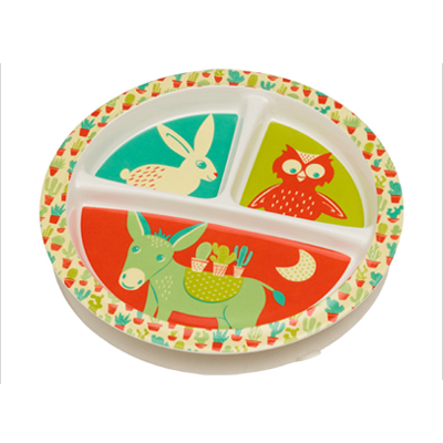 Happy Cactus divided suction cup plate 1
