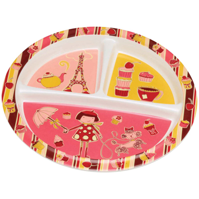 Cupcake Divided Suction Plate 1