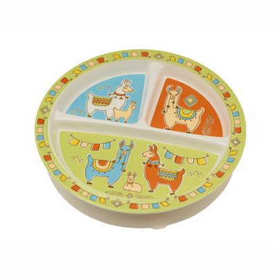 Mama Llama divided suction cup plate 1
