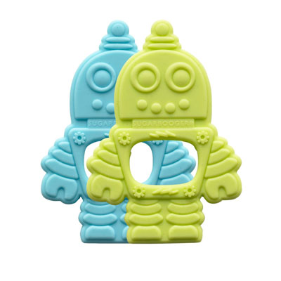 Robot silicone teethers 1