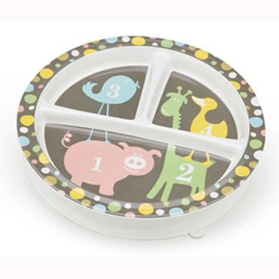 Numbers divided plate with suction base by Sugar Booger 1