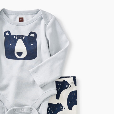 Bear baby outfit - Newborn 2