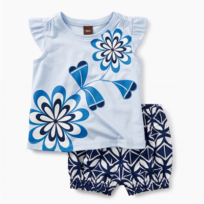 Blooming Florals Baby Outfit 1