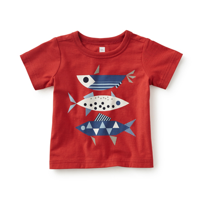 Fish tails graphic tee - 6-12 months 1