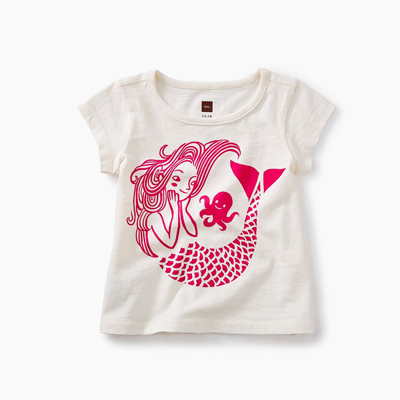 Mermaid graphic baby tee - 12-18 months 1