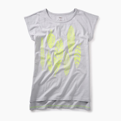 Neon feather graphic tee - 7 1