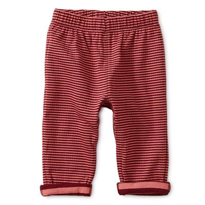 Boysenberry stripe baby pants 1