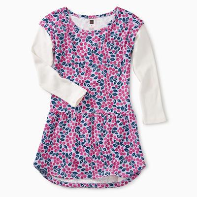 Blueberry Blooms layered pocket dress 1