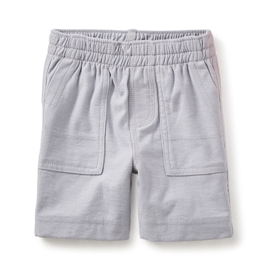 Storm grey jersey baby shorts 1