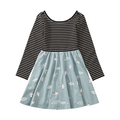 Crane Skies ballet skirted dress 1