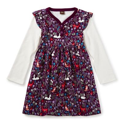 Woodland button neck dress - 12-18 months 1