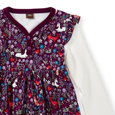 Woodland button neck dress - 12-18 months 2