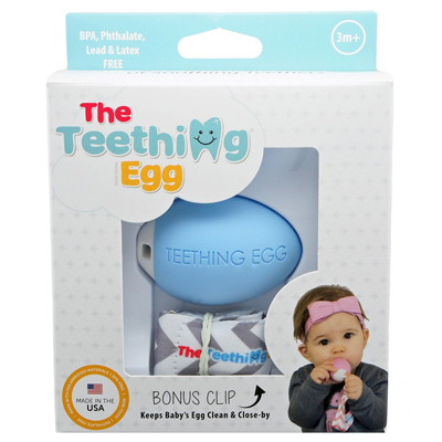The Teething Egg - Baby Blue 3