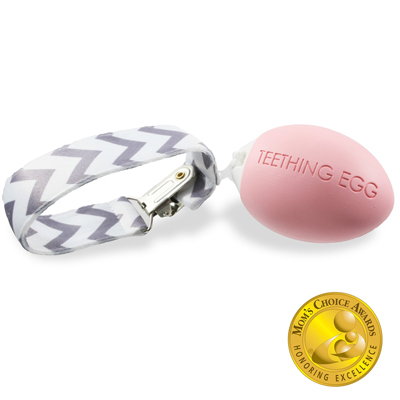 The Teething Egg - Baby Pink 1