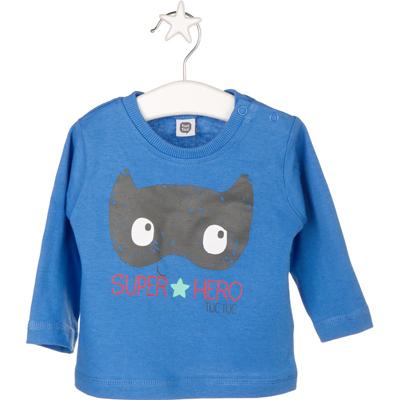 Blue Super Hero LS shirt - 6 months 1