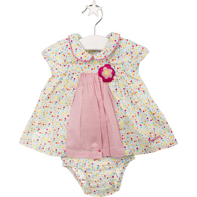 Bon Voyage dot dress and bloomers 1