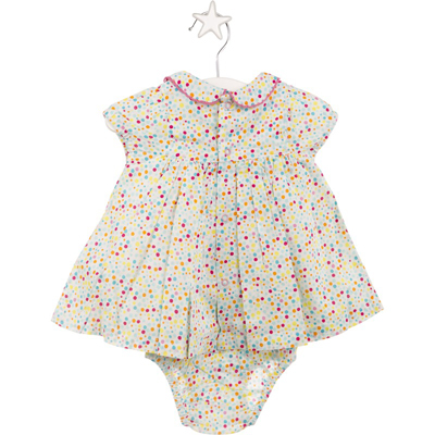 Bon Voyage dot dress and bloomers 2