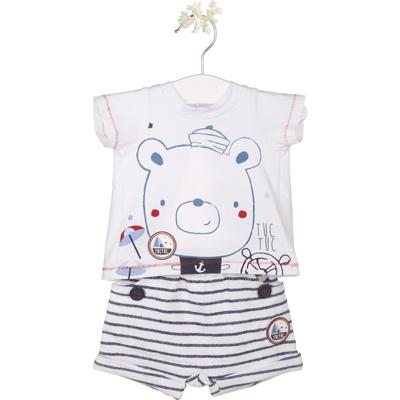 Nautical bear shirt and shorts 1