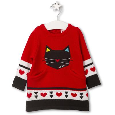 Geometric Cat knit dress 1