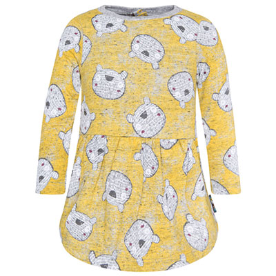 Bear dress in mustard - 4 1
