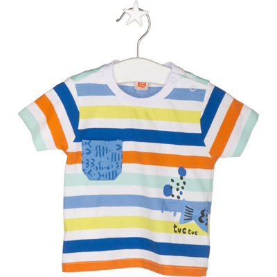 Striped shirt with print pocket - 12 months 1