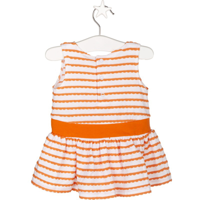 Orange and white striped dress - 9 months 2