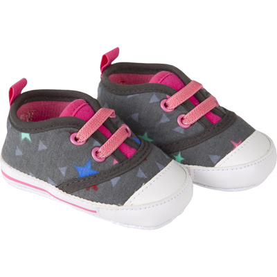 Triangle and stars baby shoes 1