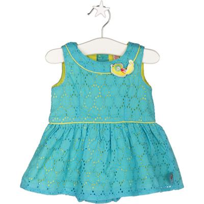 Turquoise eyelet dress 1
