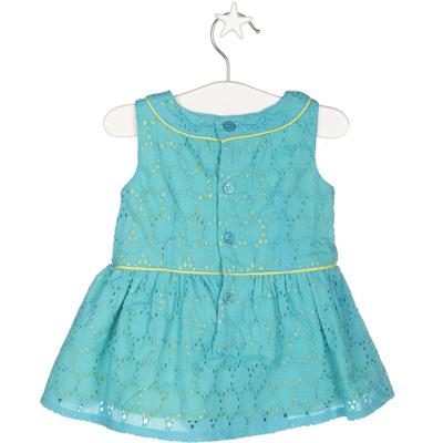 Turquoise eyelet dress 2