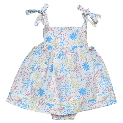 Floral garden print bubble dress 1