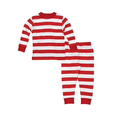 Red and white stripe organic long johns 1
