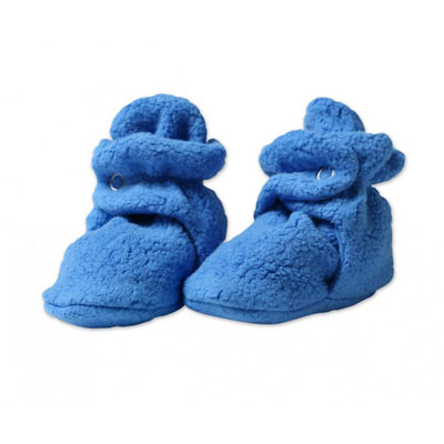 Periwinkle cozie fleece booties 1