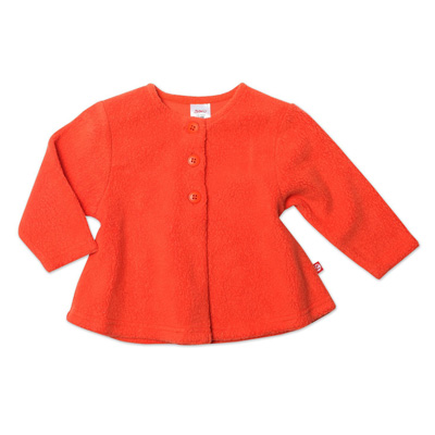 Mandarin orange Cozie fleece swing jacket 1