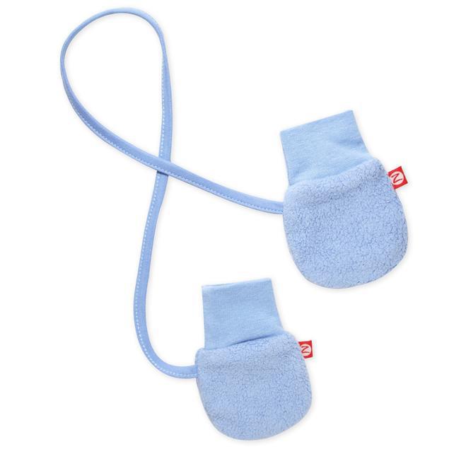 Light Blue cozie fleece mittens 1